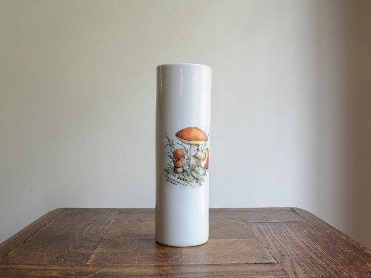 BAVARIA キノコ柄 陶器フラワーベース C