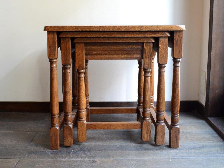 アンティーク 木製ネストテーブル
