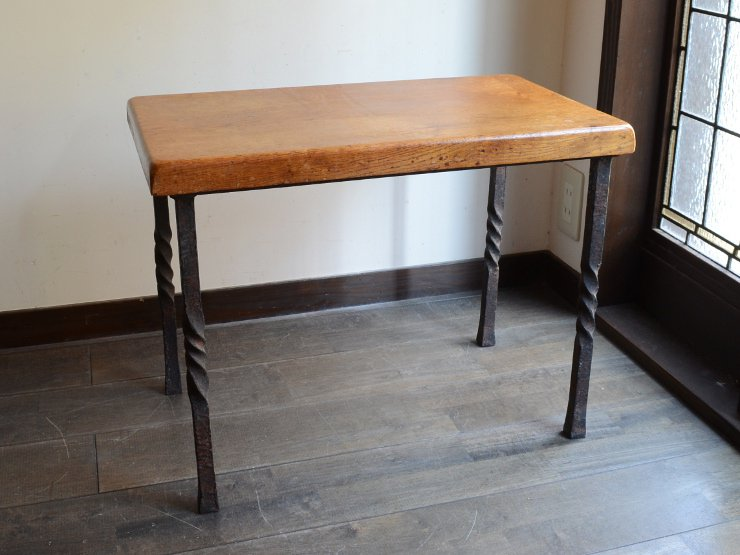 アンティーク 鉄脚テーブル L