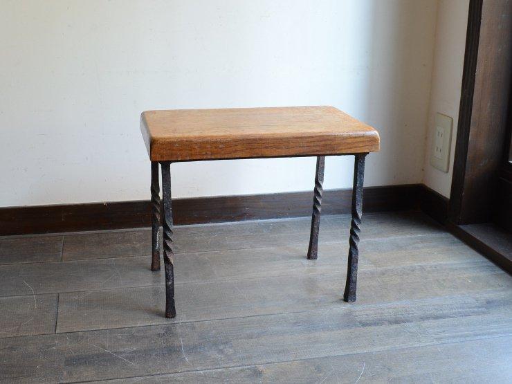 アンティーク 鉄脚テーブル S