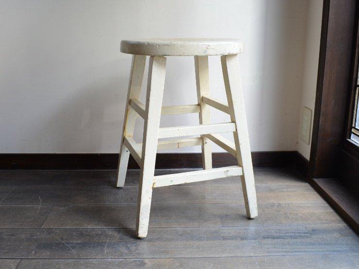 アンティーク ペイント 木製スツール