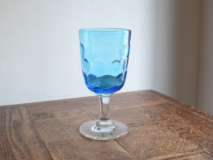 アンティーク 水色グラスA