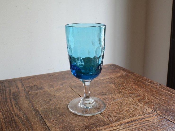 アンティーク 水色グラスB