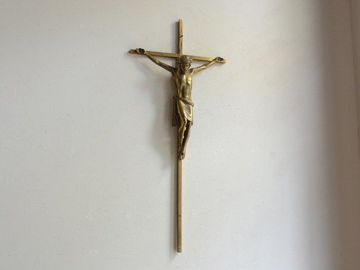 メタルクロス(十字架) ウォールデコレーション(H45cm)
