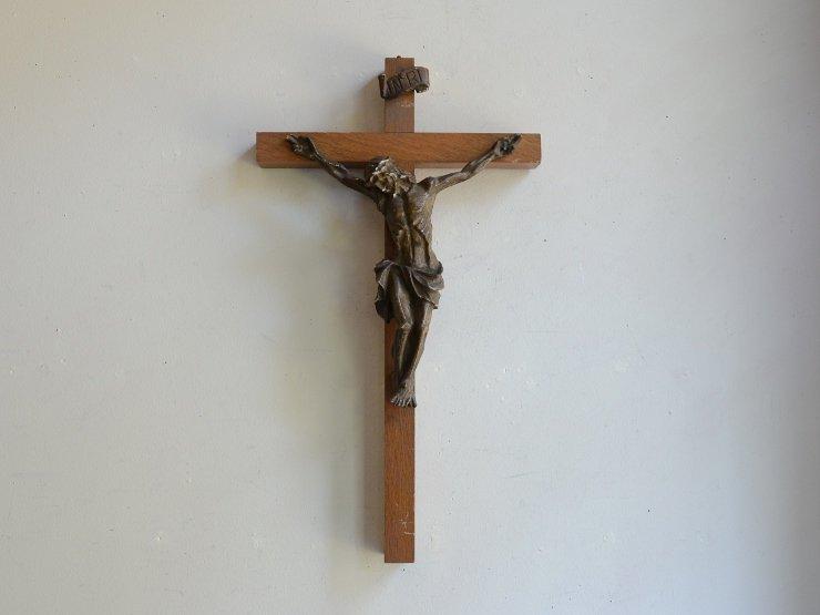 木製クロス(十字架) ウォールデコレーション(H35cm)