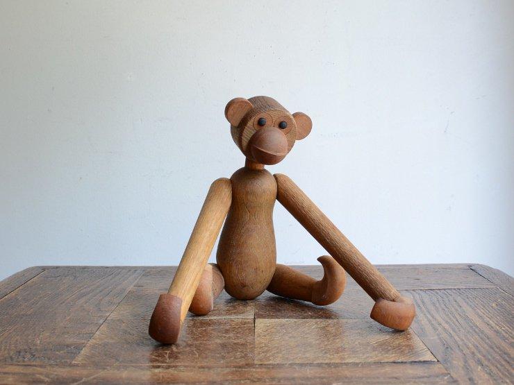 ヴィンテージ 猿モチーフ 木製 オブジェ