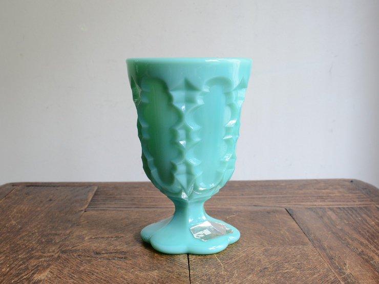 ヴィンテージ オパリンガラス フラワーベース