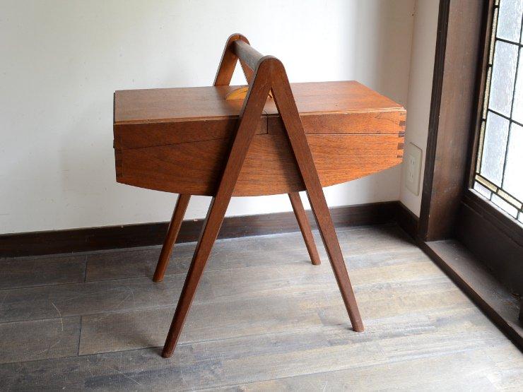 ヴィンテージ 木製 ソーイングボックス
