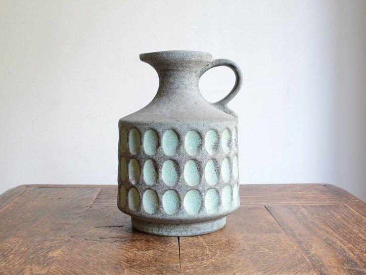 ドイツヴィンテージ 陶器フラワーベース (15cm)