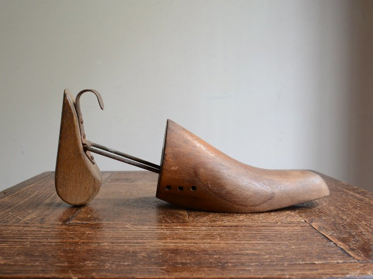 アンティーク 木製シューズキーパー (片足)
