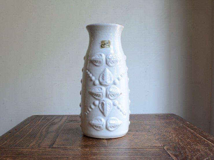 ドイツヴィンテージ 陶器フラワーベース (21cm)