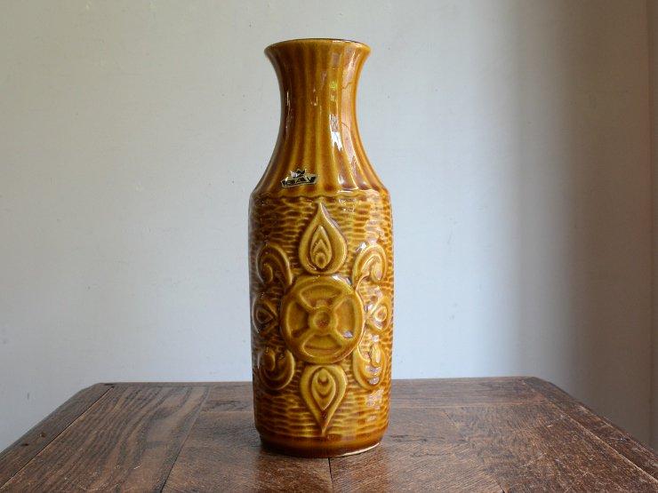 ドイツヴィンテージ 陶器フラワーベース (25cm)