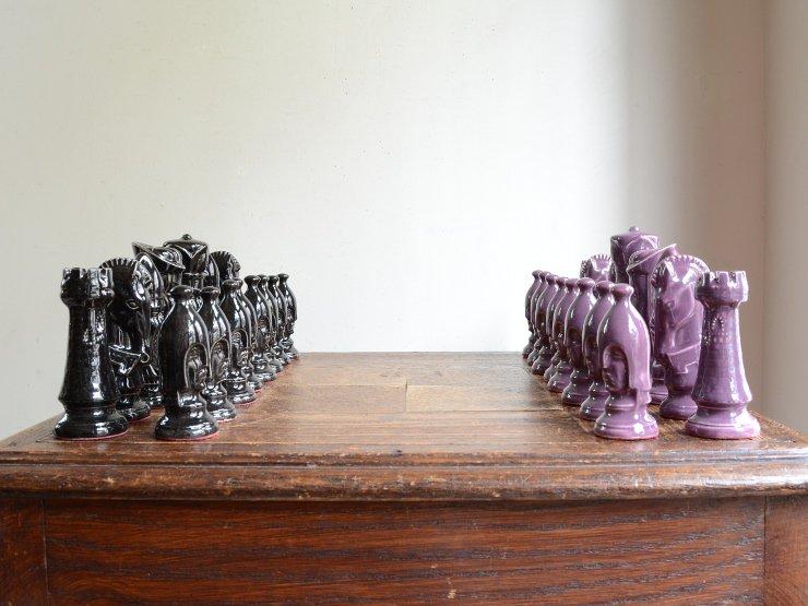 ヴィンテージ 陶器チェス(駒・オブジェ)