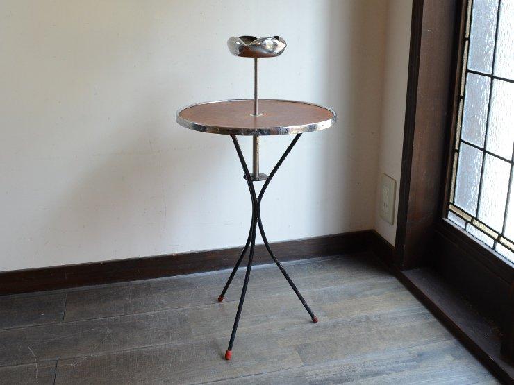 ヴィンテージ アシュトレイ付きテーブル