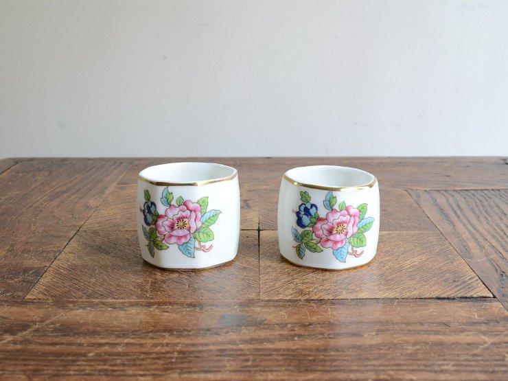 イギリス 陶器 ナプキンリングセット