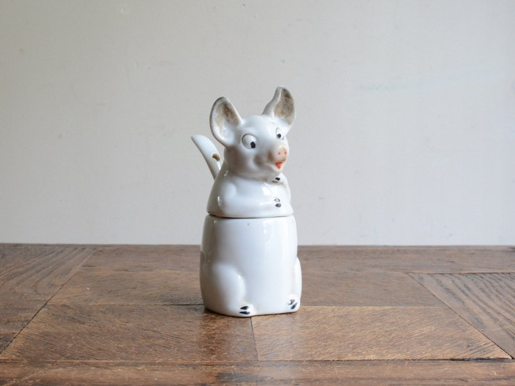 ブタさん陶器ポット オブジェ