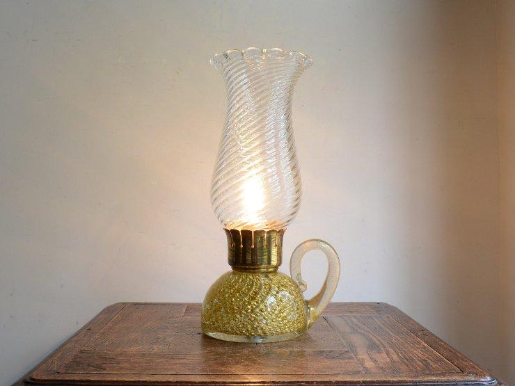 ヴィンテージ ムラーノガラス テーブルランプ