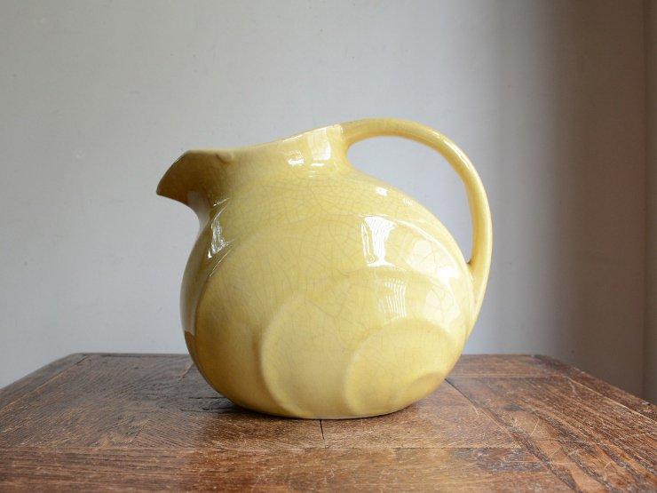 ヴィンテージ 取手付 陶器フラワーベース(水差しポット)