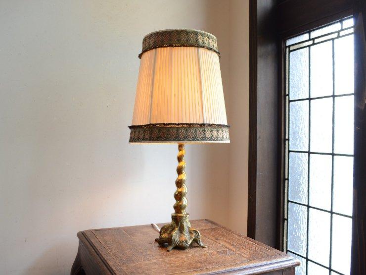 プリーツシェード 真鍮テーブルランプ(H50cm)