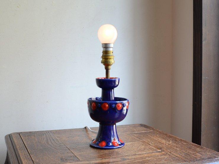 ヴィンテージ 陶器テーブルランプ(H28cm)B22電球仕様