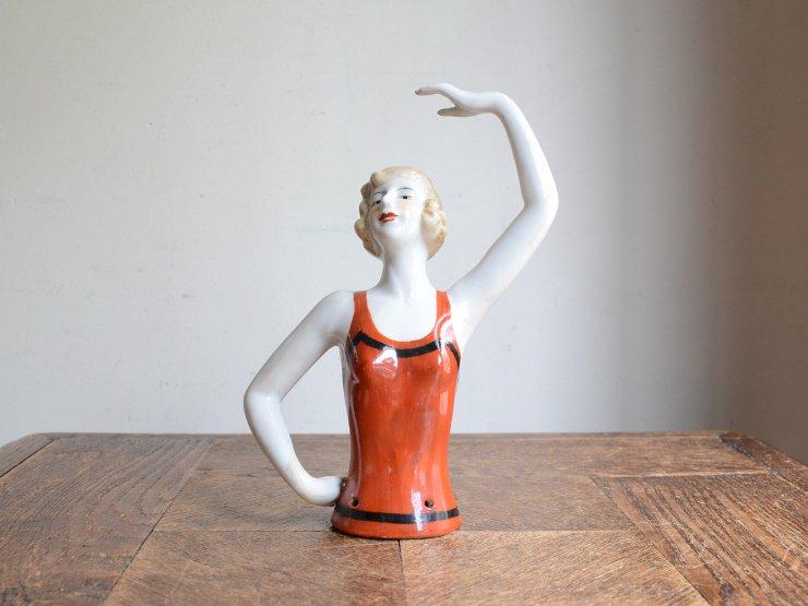 ハーフドール 陶器オブジェ