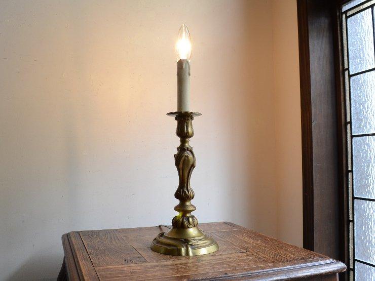 キャンドルスタンド型 真鍮テーブルランプ(H42cm)