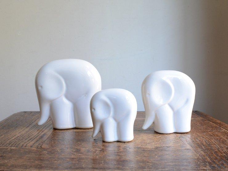 ヴィンテージ ゾウさんモチーフ 陶器オブジェ