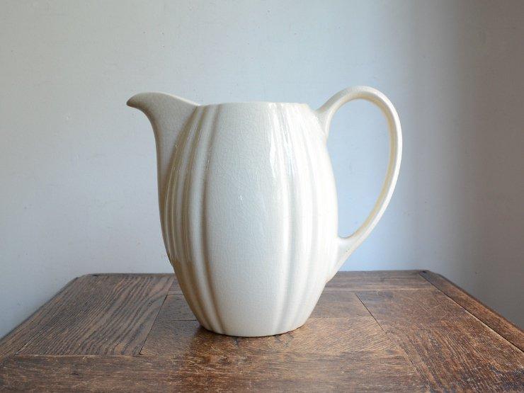 アンティーク 取手付 陶器フラワーベース