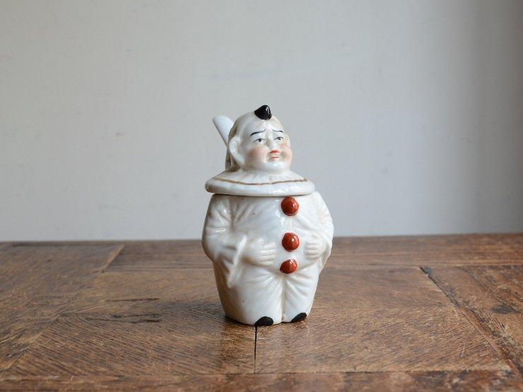 小人陶器ポット オブジェ