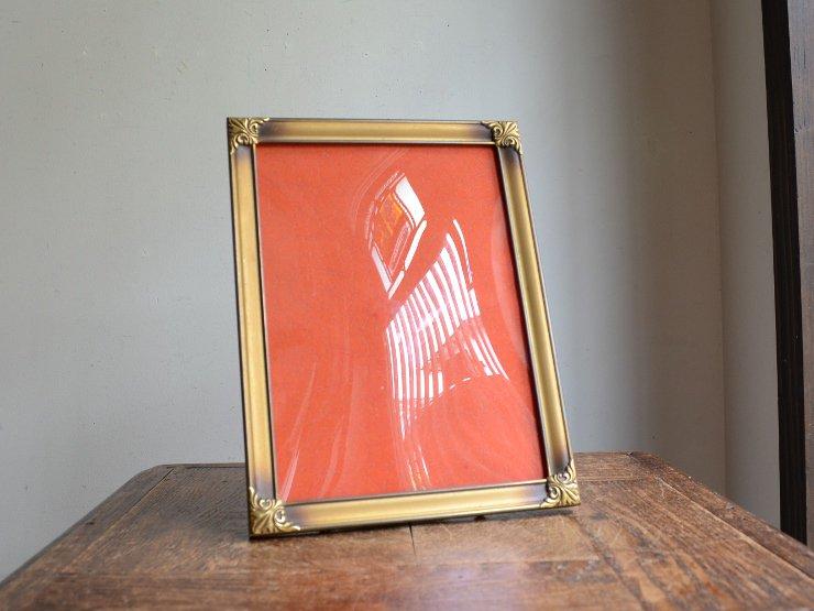 ヴィンテージ ドームガラス付 真鍮フレーム(H25.5cm)