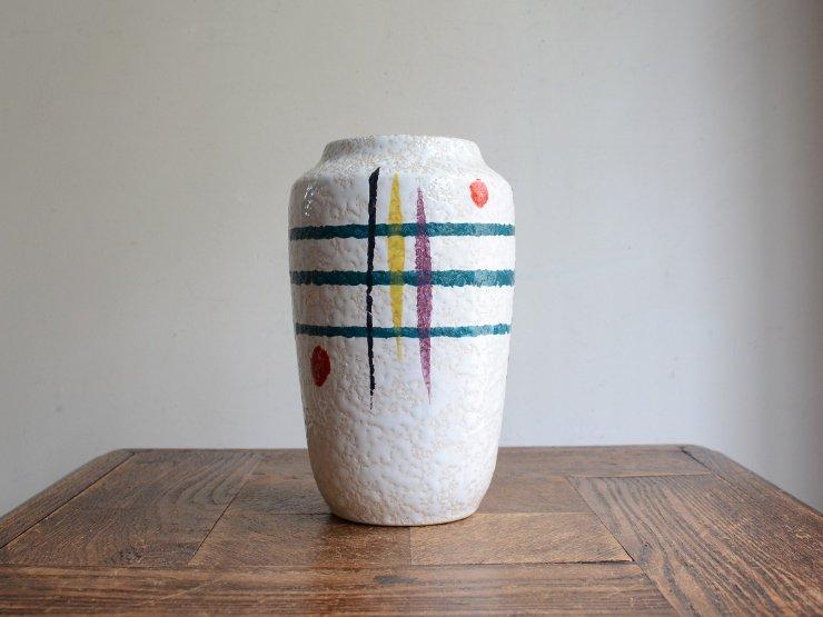 ヴィンテージ 陶器フラワーベース