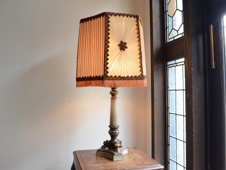 ヴィンテージ フリンジシェード テーブルランプ(H78cm)