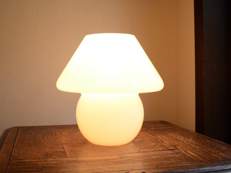 ヴィンテージ マッシュルーム型 テーブルランプ(H20cm)