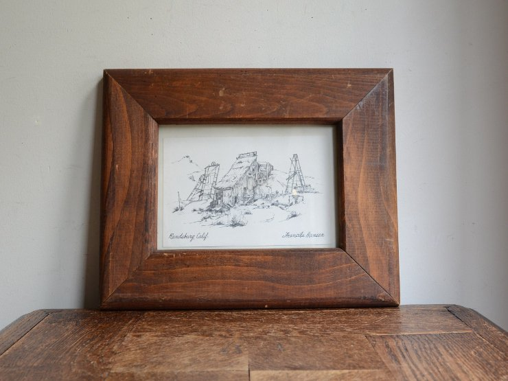 木製フレーム ウォールデコレーション