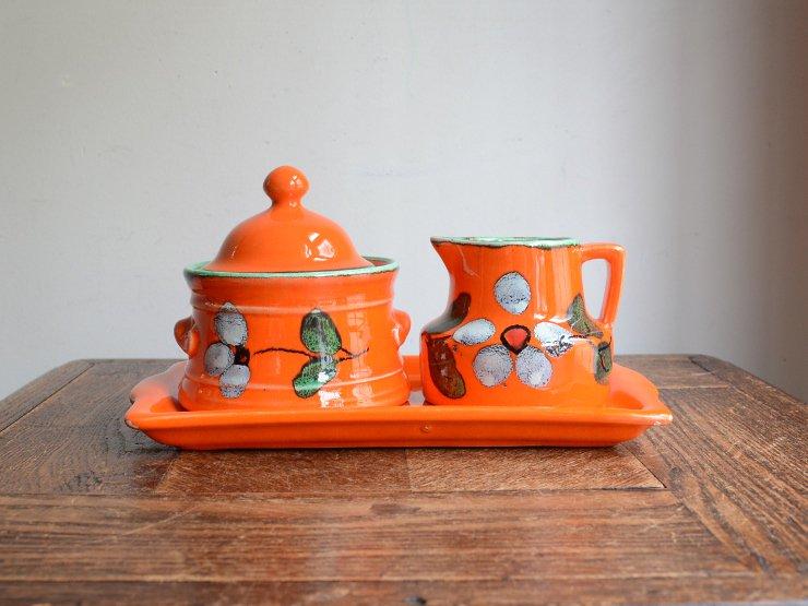 ヴィンテージ 陶器クリーマー&シュガーポット