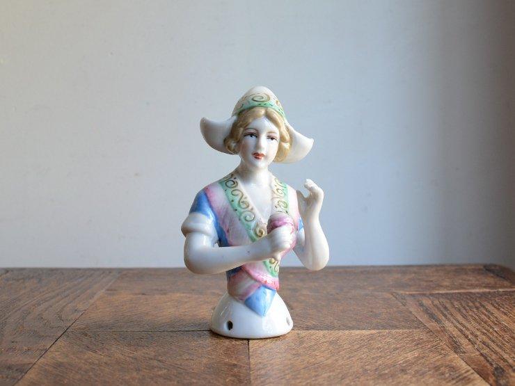 [new] ハーフドール 陶器オブジェ