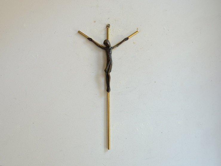 [new] 真鍮クロス(十字架)ウォールデコレーション(H28cm)