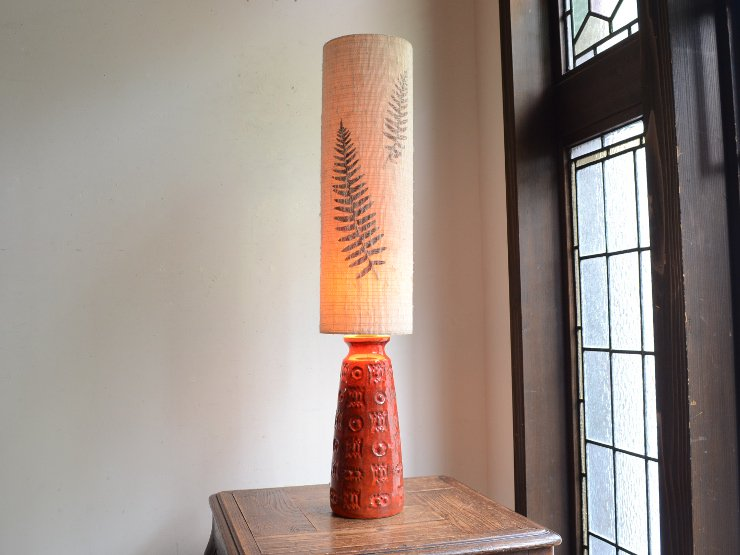 [new] ヴィンテージ 陶器 テーブルランプ (H68cm)