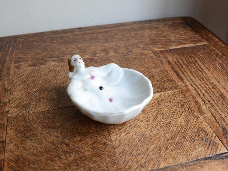 ピエロモチーフ陶器トレイ