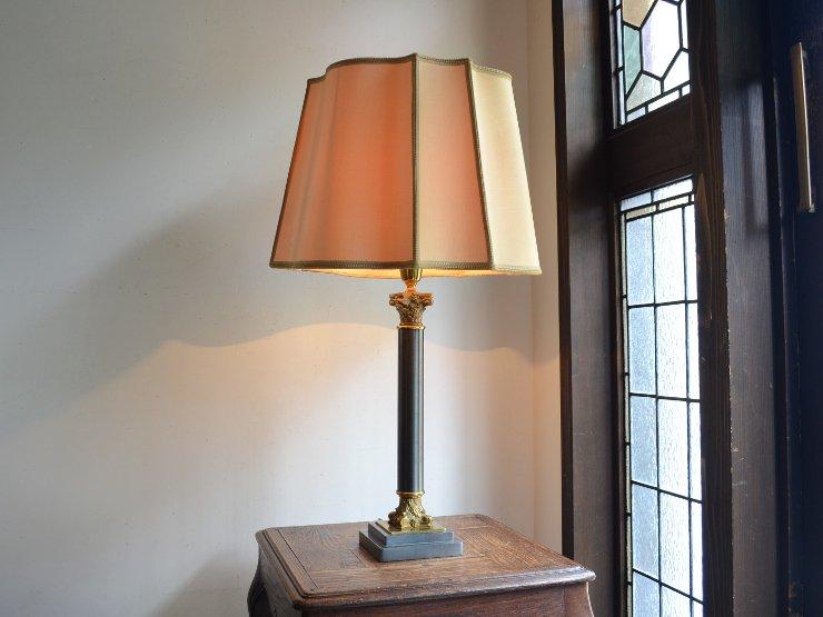 [new] ヴィンテージ シェード付き テーブルランプ(H72cm)
