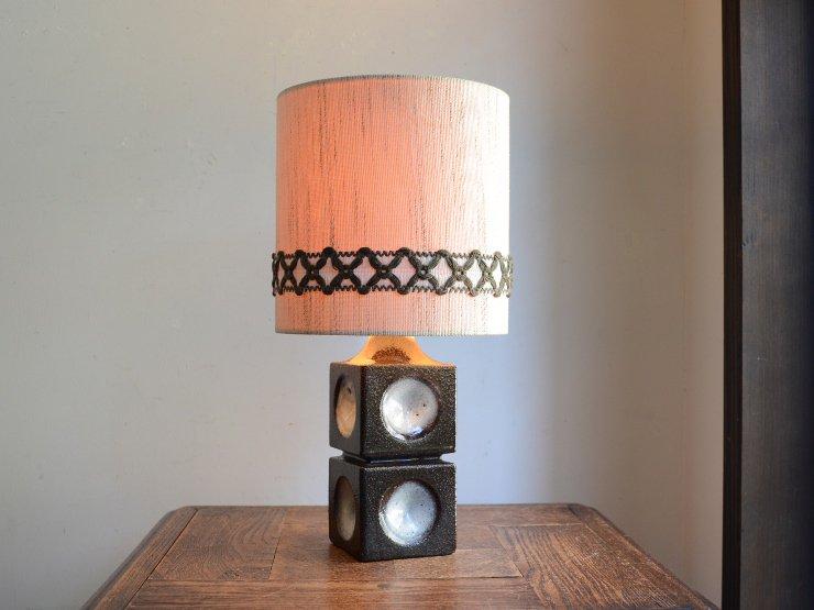 [new] ヴィンテージ 陶器 テーブルランプ (H36cm)