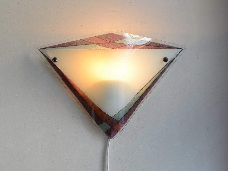 ヴィンテージ デザインガラス ウォールランプ