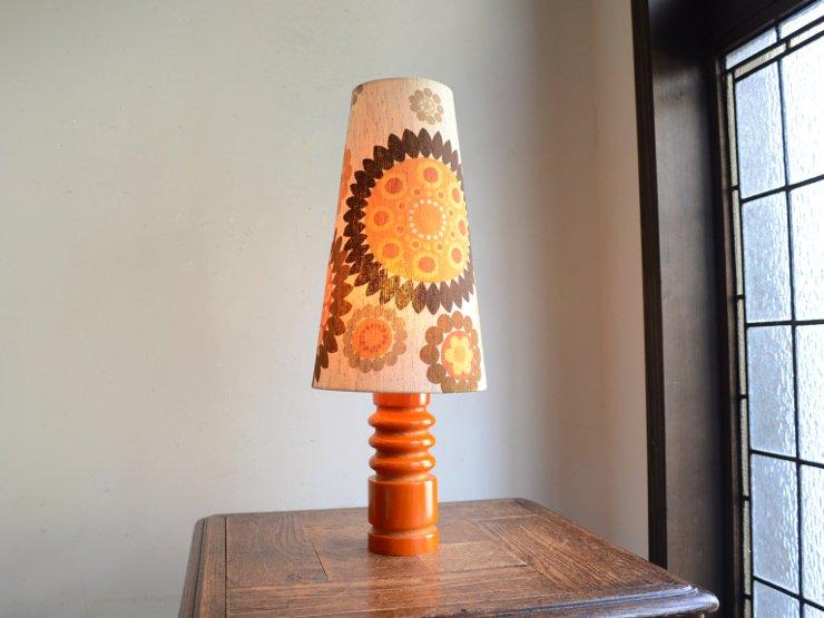 [new] ヴィンテージ 木製 テーブルランプ (H45cm)