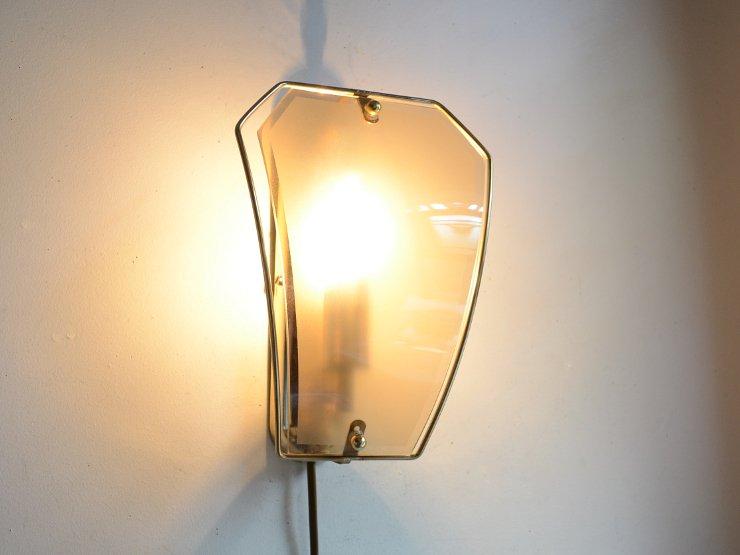 [new] ヴィンテージ スモークガラス ウォールランプ