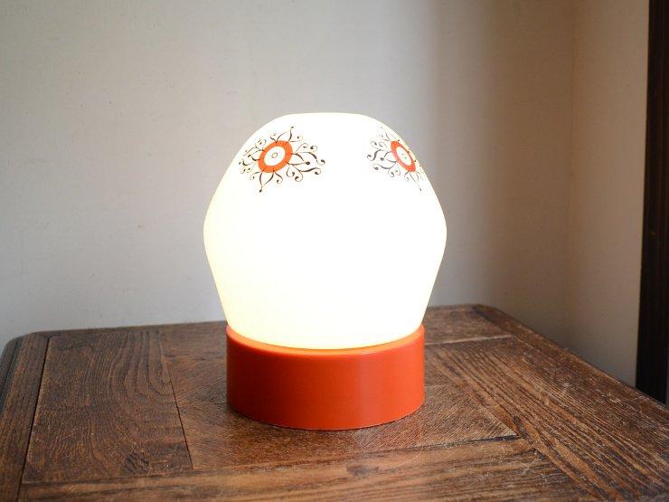 ヴィンテージ デザインガラス テーブルランプ