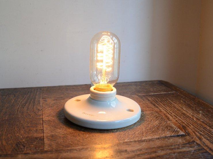 アンティーク陶器ウォールランプ (シーリングライト)※直付専用