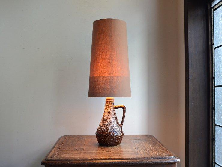 ヴィンテージ 陶器 テーブルランプ (H46cm)