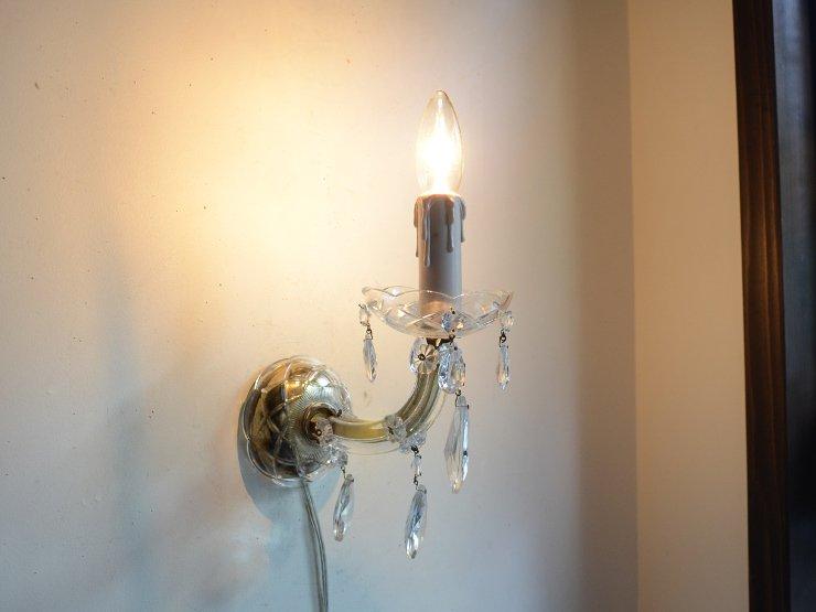 ティアドロップ型クリスタルガラス ウォールランプ 在庫2