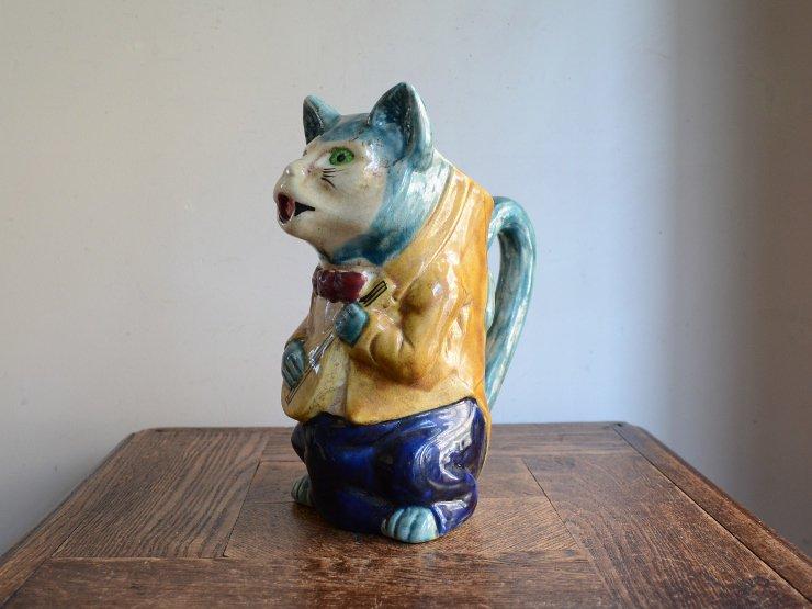 [new] 猫さんモチーフ 陶器ポット(フラワーベース)