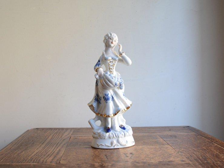 [new] ヴィンテージ 女性モチーフ 陶器オブジェ
